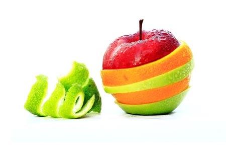 фрукты с кожурой