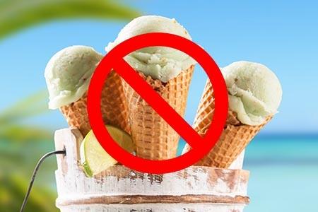 мороженое запрещено